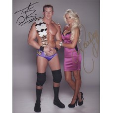 Maryse and Ted DiBiase Jr. Signed 8x10 (Version 1)